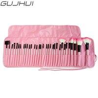GUJHUI Hot Sale 32Pcs Makeup Brushes Professional Cosmetic Make Up Foundation Eyeshadow Brush Set The Best