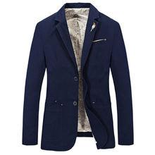 Новый брендовый мужской костюм повседневный Блейзер куртка хлопковый
