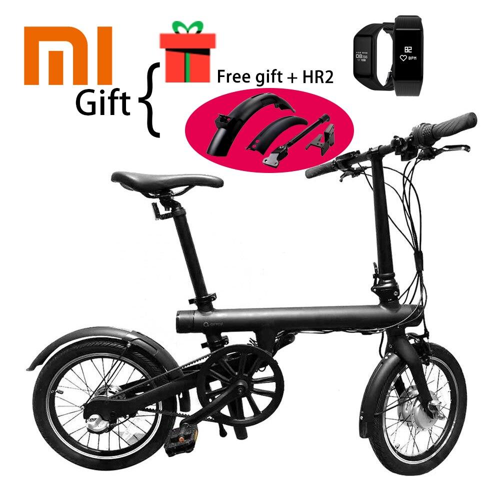 Vélo Accessoires comme le cadeau Xiaomi QICYCLE EF1 Sans Fil Bluetooth Smart Vélo Pliable Vélo Couple Capteur Cyclomoteur En Aluminium