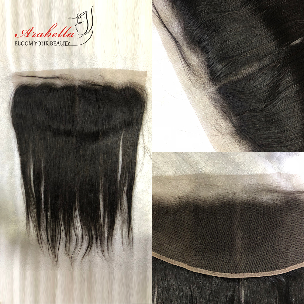 Transparent 13x4 Lace Frontal Straight Hair Natural  Arabella PrePlucked Bleached Knots Lace Frontal Closure 1