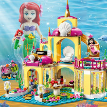 Princess Ariel Doll Building Blocks Compatible Legoinglys 41063 Friends House Hotel Heartlake Hospital City Toys for Child Girl(China)