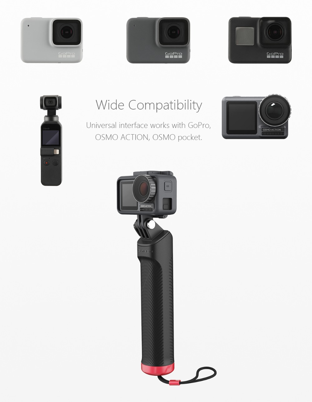 PGYTECH Floating Hand Grip for DJI Osmo Action//GoPro