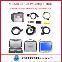 MB Star C4 Star Diagnosis with Laptop cf19 + MB SD C4 Software V2017.09 DTS/Vediamo/XENTRY for MB Cars&Trucks Diagnose