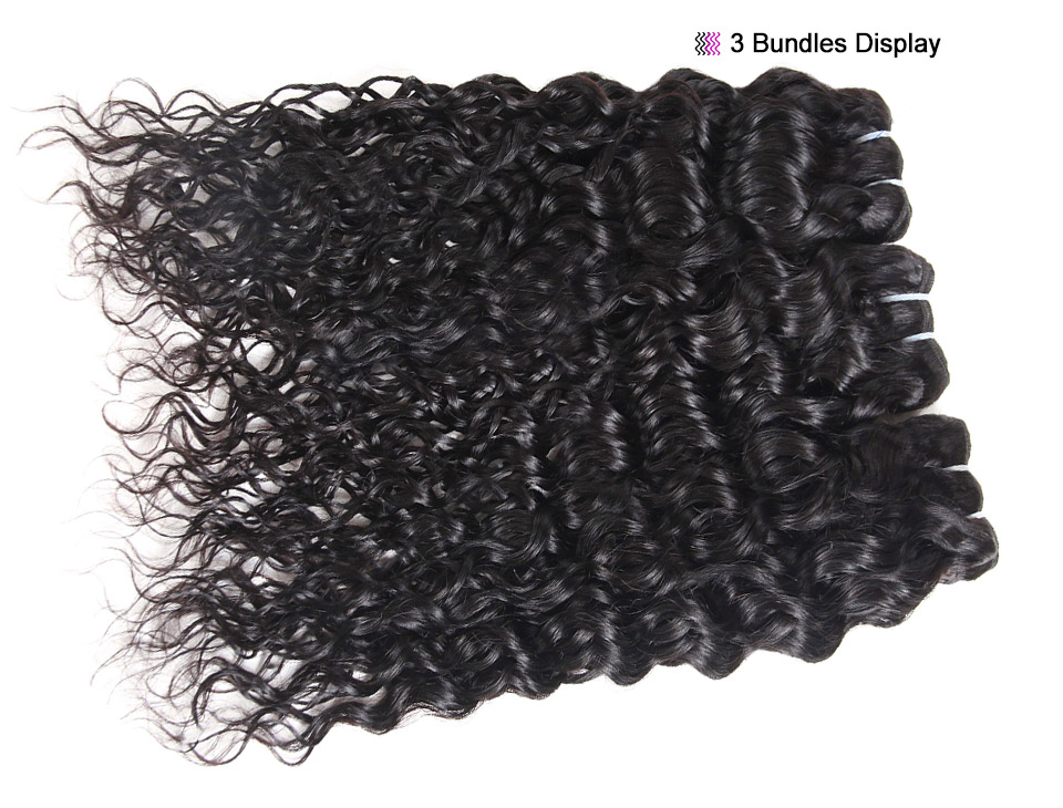 Allove Water Wave Hair Bundles With Closure (10)
