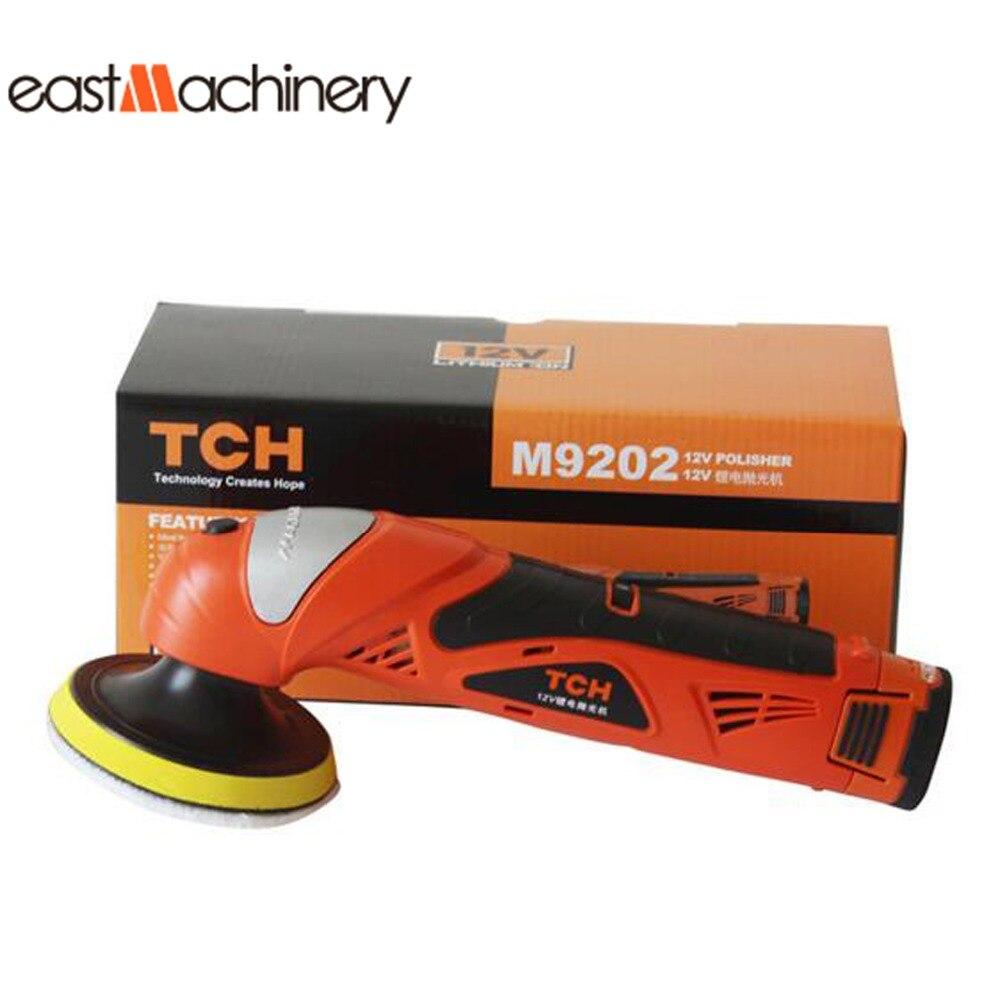 Portable multifunctional mini car waxing machine 12v cordless li ion battery car polisher china