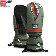 NANDN водонепроницаемые перчатки для катания на лыжах, сноуборде, мотоцикле, лыжах, скалолазания