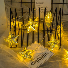 BTgeuse 1M 3M Plating Star LED Garland Bulbs String Fairy Lights For Halloween Christmas Party Home Decoration