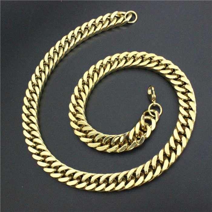 1pc Free Shipping Lastest Heavy Necklace 316L Stainless Steel Cool Man Punk Style Necklace fashion cool punk style pendant necklace brown virgo theme