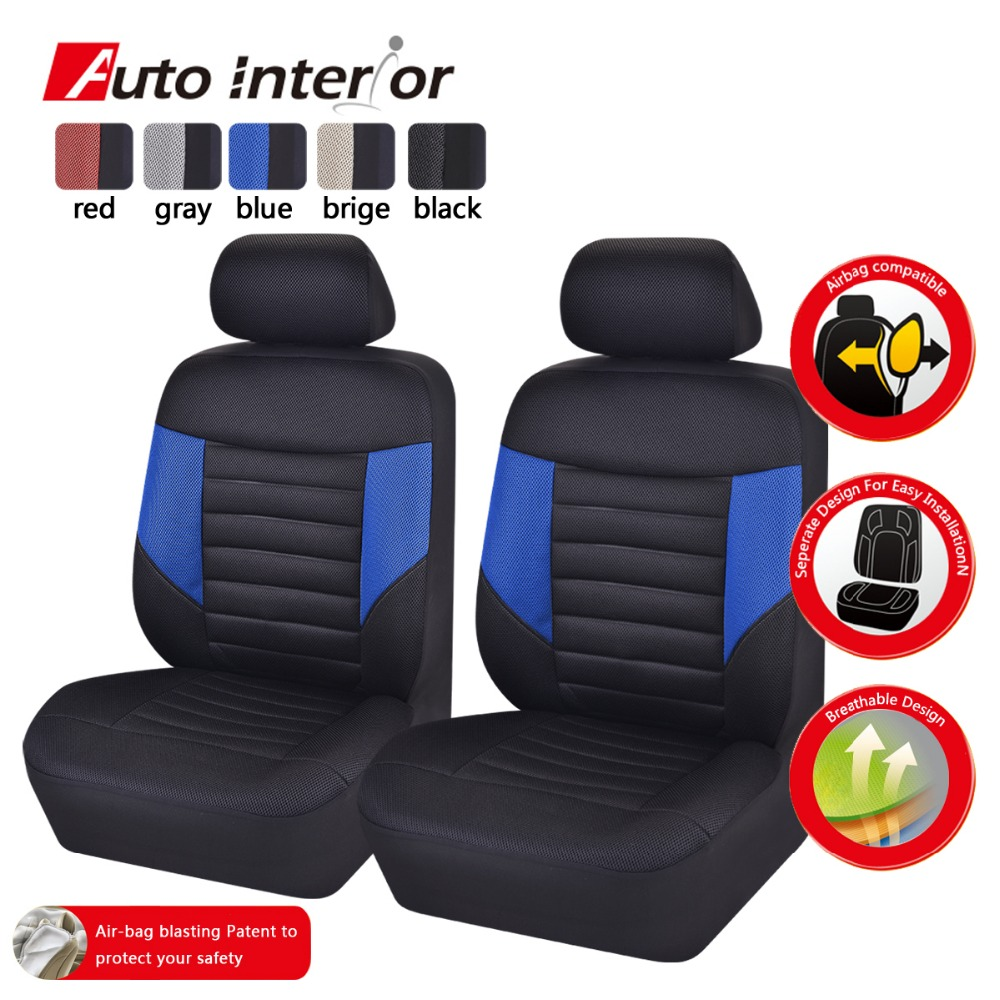 Car Pass Brand 3D Front Two Seat Covers Fit Most Standard Styling