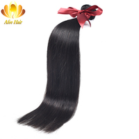 Ali Afee Brazilian Straight Human Hair 1Pc Only Natural Black Hair Weave Bundles 8 30 Can