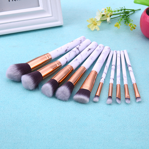 Image 2 - Marble Patten Makeup Brush Set for Cosmetic Powder Foundation Eyeshadow Lip Make up Brushes Set Beauty Tool maquiagem Dropship