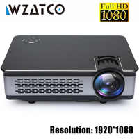 WZATCO CT580 Real Full HD Projector 1080P 1920*1080 3800Lumen HDMI Home Theatre Android 9.0 Projectors WIFI Beamer LCD Proyector
