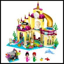 402 Pcs Princesa Sereia Palácio Submarino Modelo Building Block Brinquedos BELA 10436 Figura Presente Para Crianças Compatível Legoe