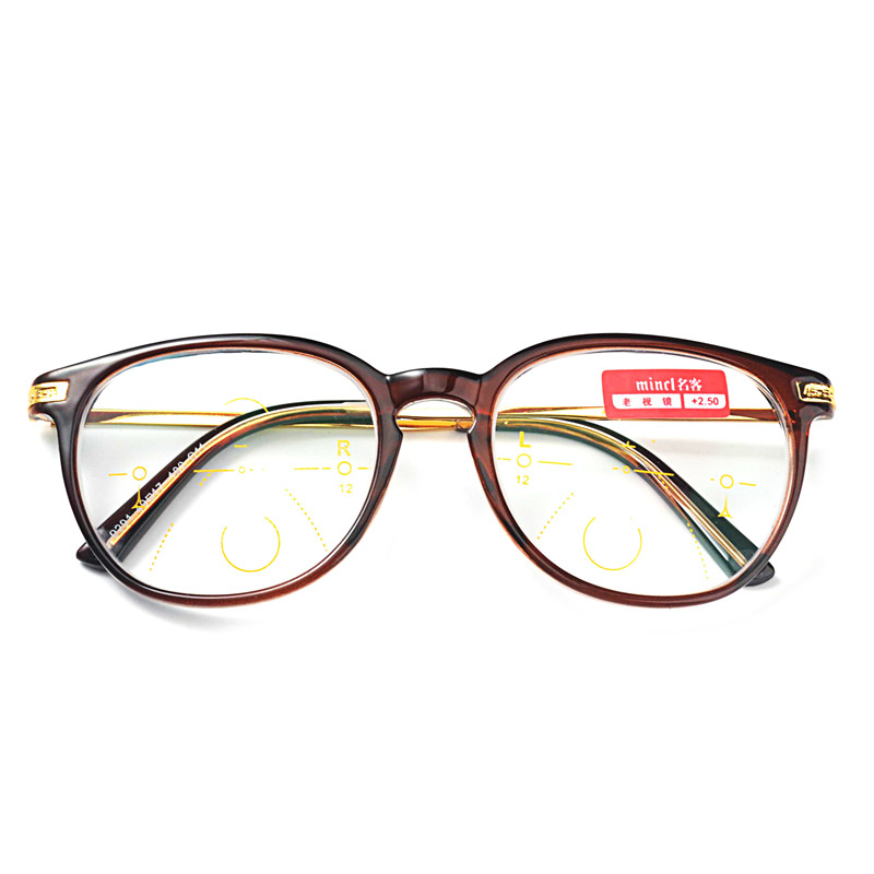 d2d3478893c MINCL Round Progressive Multifocal Reading Glasses Bifocal Reading  Eyeglasses See Near And Far Eyewear Women Men Diopter FML-in Reading Glasses  from Men s ...