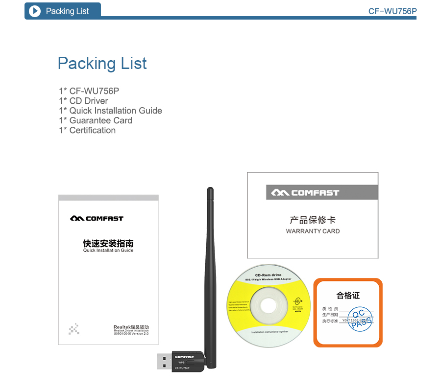300Mbps usb wifi adapter CF WU756P wifi dongle antenna Realtek RTL8192EU chipset WPS one button encryption 300mbps usb wifi adapter cf wu756p wifi dongle antenna realtek  at soozxer.org