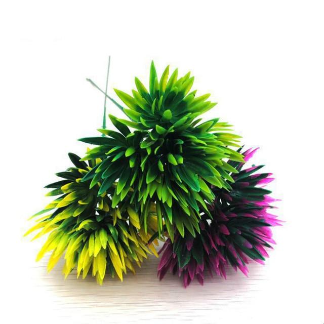 Green Yellow Purple Artificial Succulent Plant Pine Cone Succulent