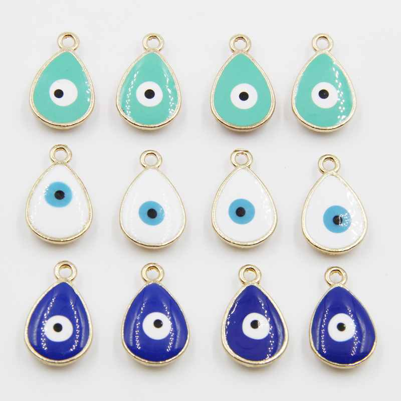 Evil eye charm diy beads charms and pendants ojo turco bricolage 20pcs 20mm 2016 the new evil eye charm diy metal for bracelets bracelets shipping hj01133 aloadofball Gallery