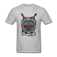 Summer Fashion The Shield The Legend Of Zelda T Shirt Men Short Sleeve Soft Cotton Men