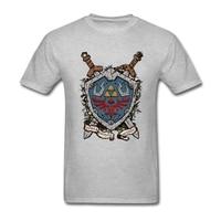 Zomer Mode De Shield De Legende Van Zelda T-shirt mannen Korte Mouw Zachte Katoen Mannen T-shirt Tops Tee Plus Size