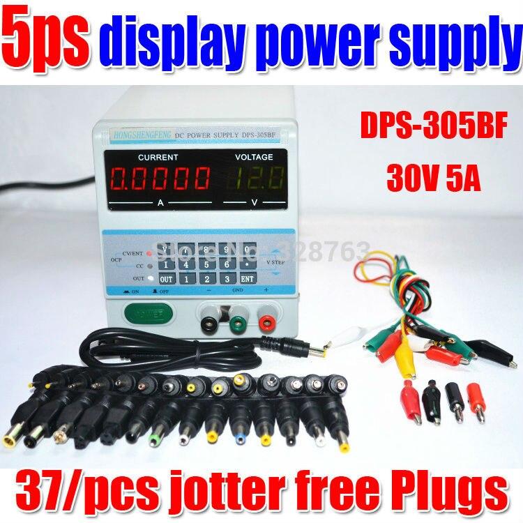 5 Ps affichage 220 V ou 110 V contrôle numérique 30 V 5A DC laboratoire alimentation réglable pour réparation d'ordinateur portable avec 37 prises gratuites