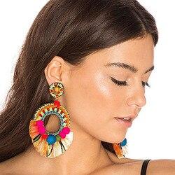 Dvacaman 2017 fashion stud earrings women boho ethnic style tassel earrings big party club statement earrings.jpg 250x250