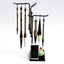 Fashion Design 24 Hanger Multifunctional brushes Holder Calligraphy Brush Holder Traditional Painting Writing Plastic Brush Rack