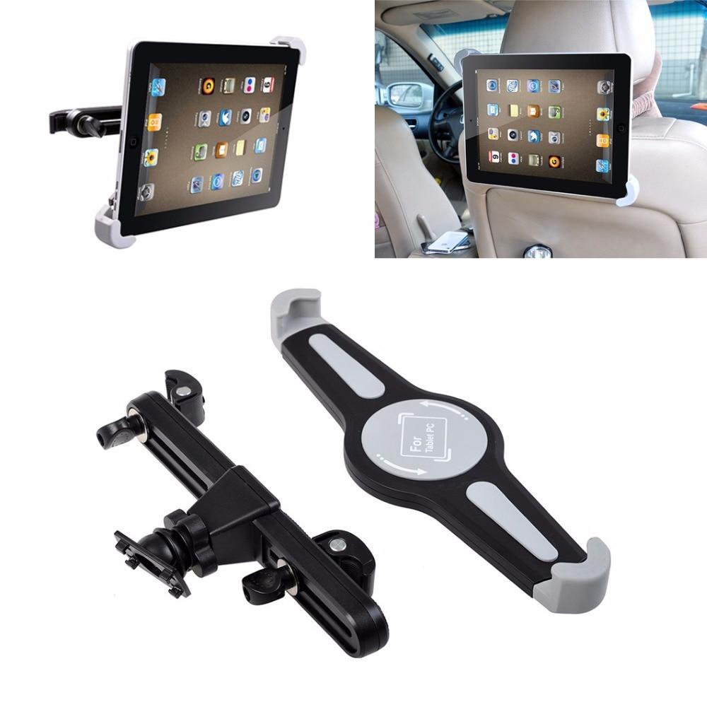 Universal Car Seat Headrest Back Holder Mount iPad Tablet Rotation Bracket Black
