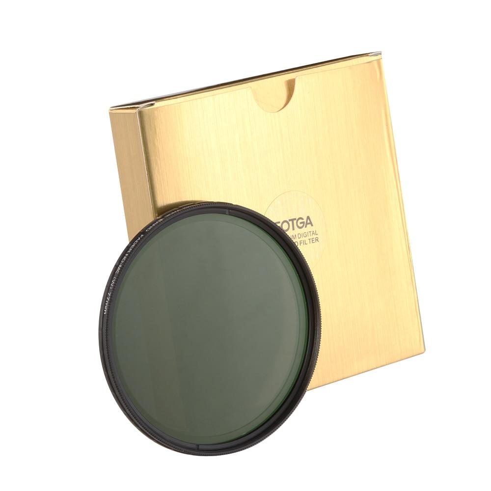 FOTGA 49mm 49 mm Ultra Slim ND2-400 HD Fader Variable ND Filter Adjustable ND2 to ND400 Neutral Density fotga ultra thin fader variable neutral density nd2 nd400 filter 77mm