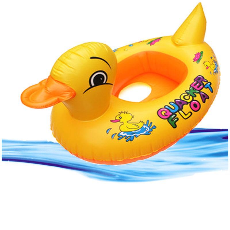 Hot Sale New Baby Kids Swimming Swim Yellow Duck Trainer Seat Inflatable Boat Ring Pool Baby