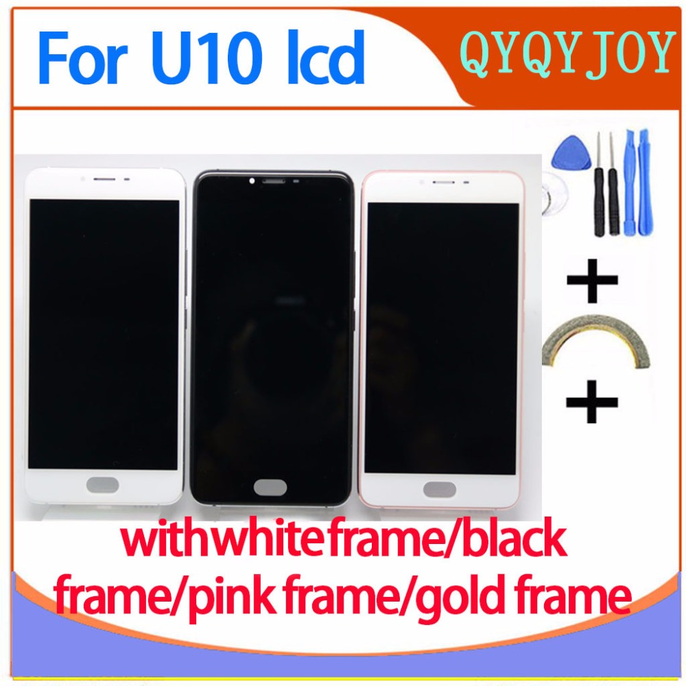 AAA Quality For Meizu U10 Touch Screen Digitizer + LCD Display For Meizu U10 5.0 inch Cellphone With Frame Free Shipping