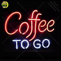 Coffee Cup Open Neon sign Real Glass Tube Bulbs Light Bar Beer Club Custom Neon signs Store Decoration Signboard 17x14 Lamps