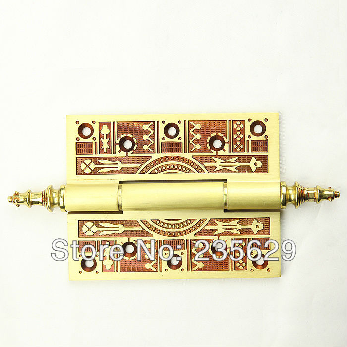 Free Shipping, Brass Door Hinges for timber door / Metal Door, 3mm thickness, Low Noise,claret-red Color free shipping mimco classico mid pouch claret color