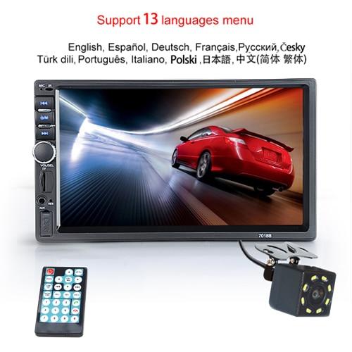 "Hipppcron Автомагнитола HD "" сенсорный экран стерео 2 Din Bluetooth FM ISO мощность SD USB Aux вход Mp5 плеер нет или с камерой - Цвет: Type 3"