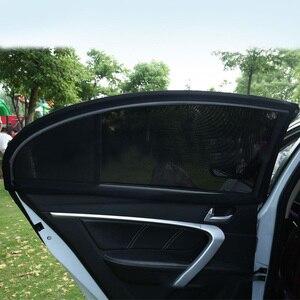 Image 5 - 2 قطعة سيارة الجانب نافذة ظلة السيارات الشمس ظلال للزجاج الأمامي شبكة الشمسية البعوض الغبار حماية الستار UV غطاء نافذة السيارة