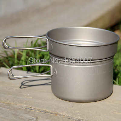 1-2 Persons Camping Pot Titanium Cutlery Pot Set Camp Cookware Camping Tableware Picnic Outdoor Cooking Set Fire Maple FMC-TD4 fire maple portable titanium flagon outdoor sake set camping wine pot with cup travel drinkware fmc 1703002 fmc 1703003