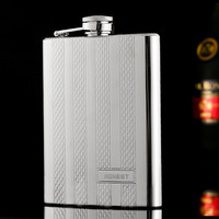 Portable 304 Stainless Steel Hip Flask Set 8 oz Hip Flask With Funnel Flagon Flasks Wine Beer Whiskey Pocket Bottle Alcohol
