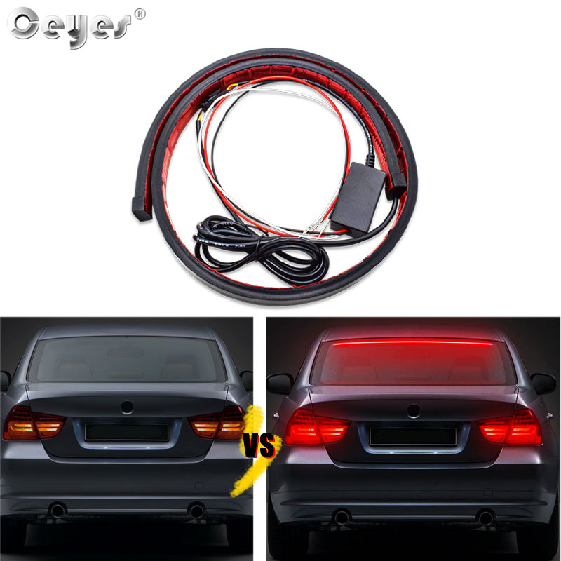 Ceyes Car Lamp Styling <font><b>Accessories</b></font> 90cm Led Strip High Mount Stop Rear Brake Warning Signal light Daytime Rear Tail For Assembly image