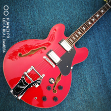 335 classic guitar classic red, high-quality full hollow jazz guitar, free shipping, authentic guitar photos
