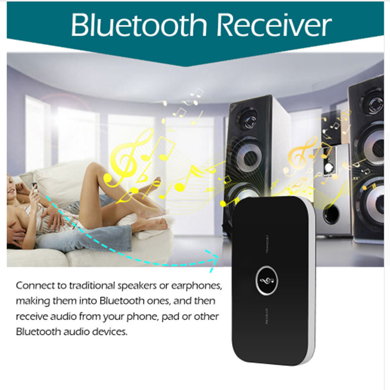 2in1 Bluetooth Transmitter Receiver HIFI Wireless Receiver A2DP Portable Audio Player Aux 3.5mm Bluetooth Audio Adapter for cars