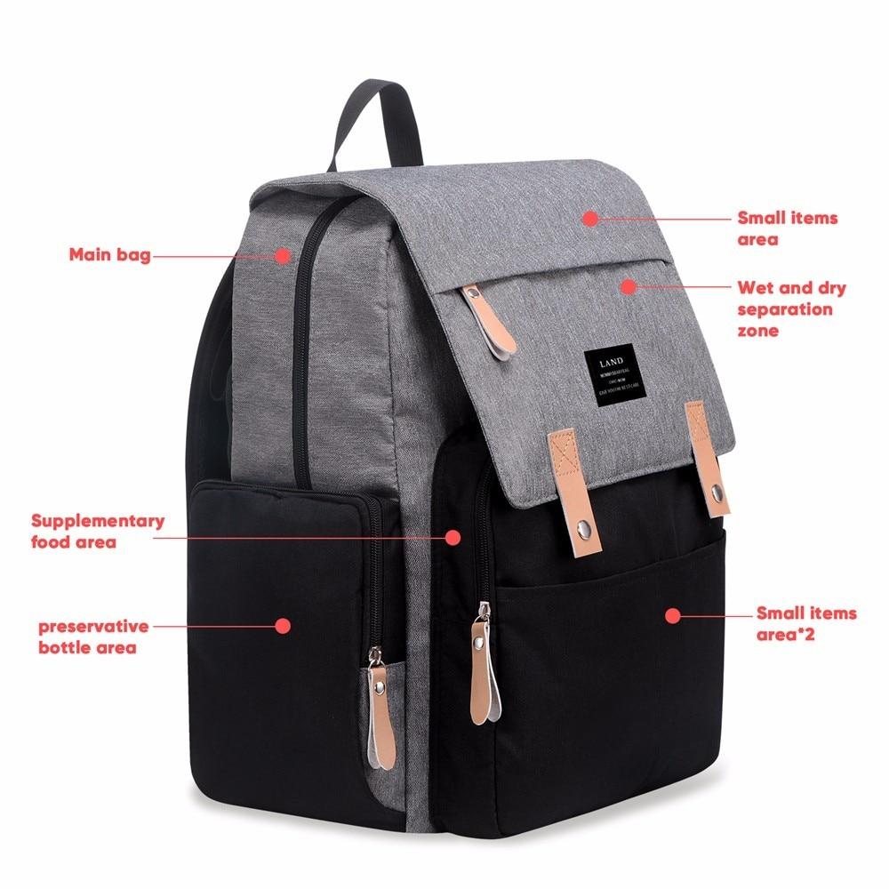 HTB1s5X btfvK1RjSspfq6zzXFXaK LAND New Baby Diaper Bag Fashion Mummy Maternity Nappy Bag Large Capacity Baby Bag Travel Backpack Designer Nursing Bag