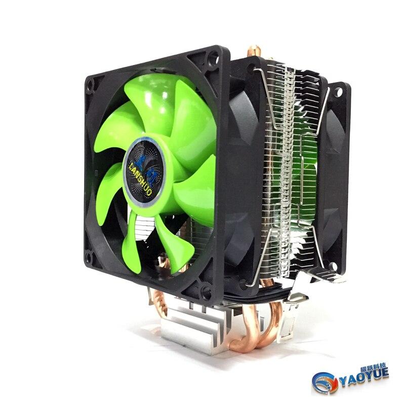 LANSHUO AMD CPU Intel disipador de calor ventilador procesador de refrigeración del radiador ventilador LGA 775 115X AM2 AM3 AM4 FM1 FM2 1366