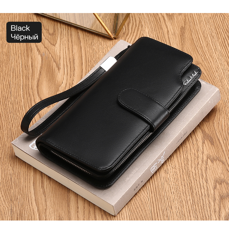 Topdudes.com - Hot Sale Luxury Genuine Leather Men's Clutch Long Wallet