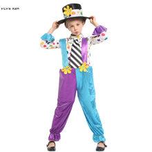 109ca13970fd86 Dziewczyny Halloween cyrk Clown kostiumy dla dzieci chłopcy Joker droll  Cosplays karnawał Purim parada etap zagraj w Masquerade .