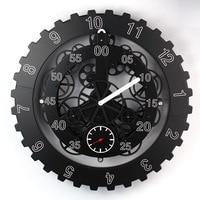 Large Gear Wall Clock Modern Design Rotation Hanging Mechanical Digital Watch Big Creative Gears Wall Clocks Home Decor 18 inch