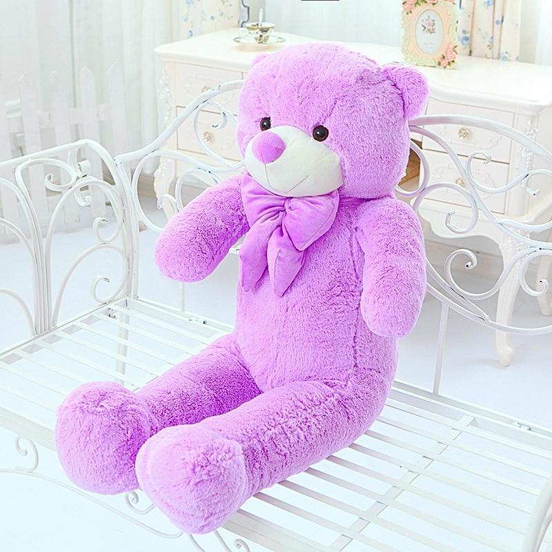 High Quality 140CM big giant purple teddy bear animals plush stuffed toys children kid dolls girls Christmas vanlentine gift - 3