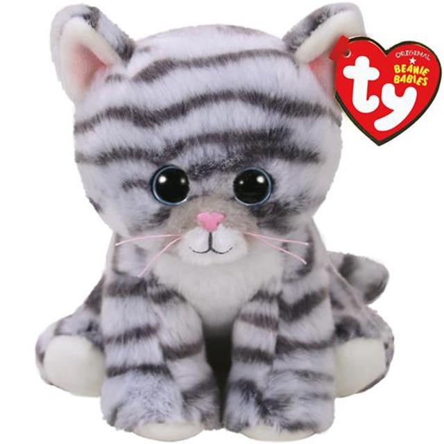 Pyoopeo Ty Beanie Babies 6 15cm Millie The Grey Tabby Cat Plush