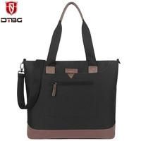 DTBG Canvas Handbag Casual Laptop Briefcase For Women 15 6 Inch Notebook Totes For Lenovo Women