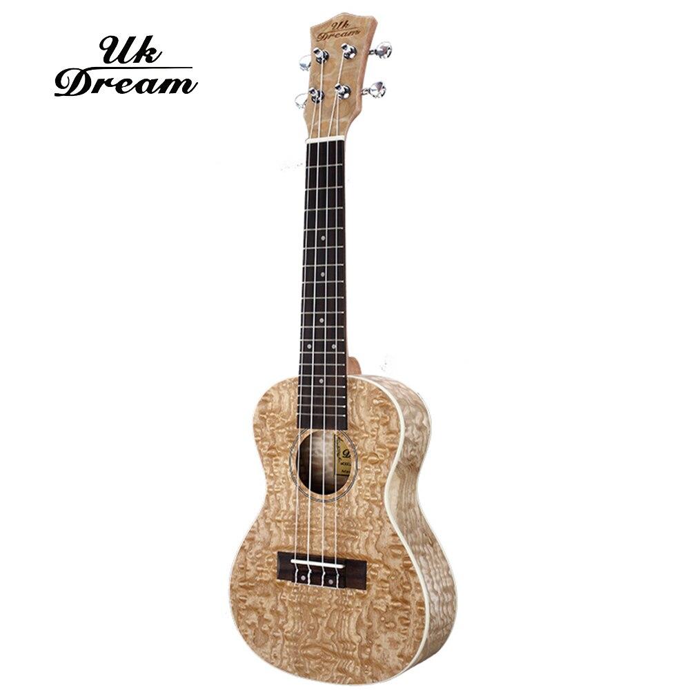UK Dream Mini guitare acoustique Fraxinus ukulélé 23 pouces Instruments à cordes musicales 4 cordes guitare 18 frettes guitares UC-951