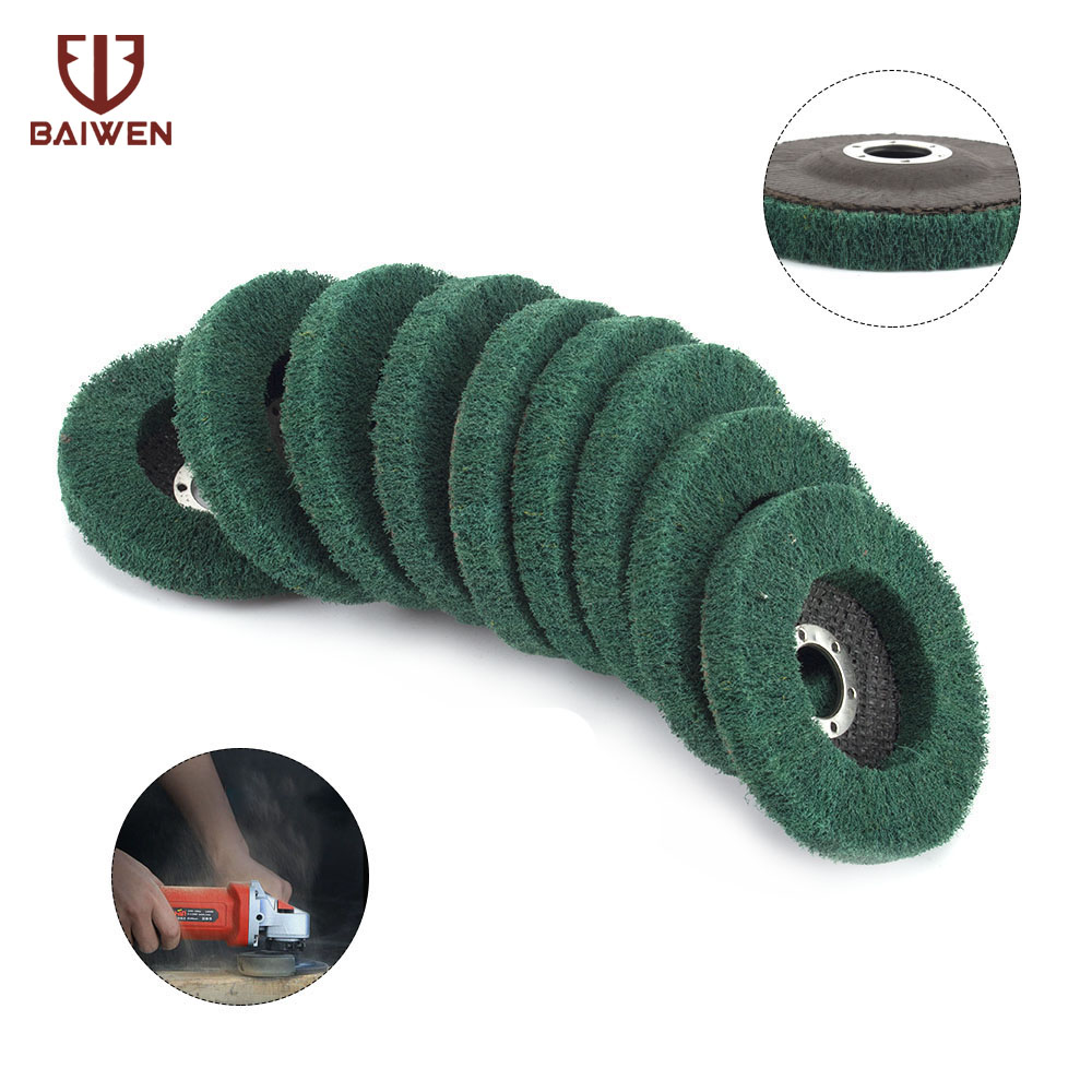 New Nylon Fiber Grinding Wheel With Sand Polishing Buffing Disc Pad Abrasive Brush Rotary Tool