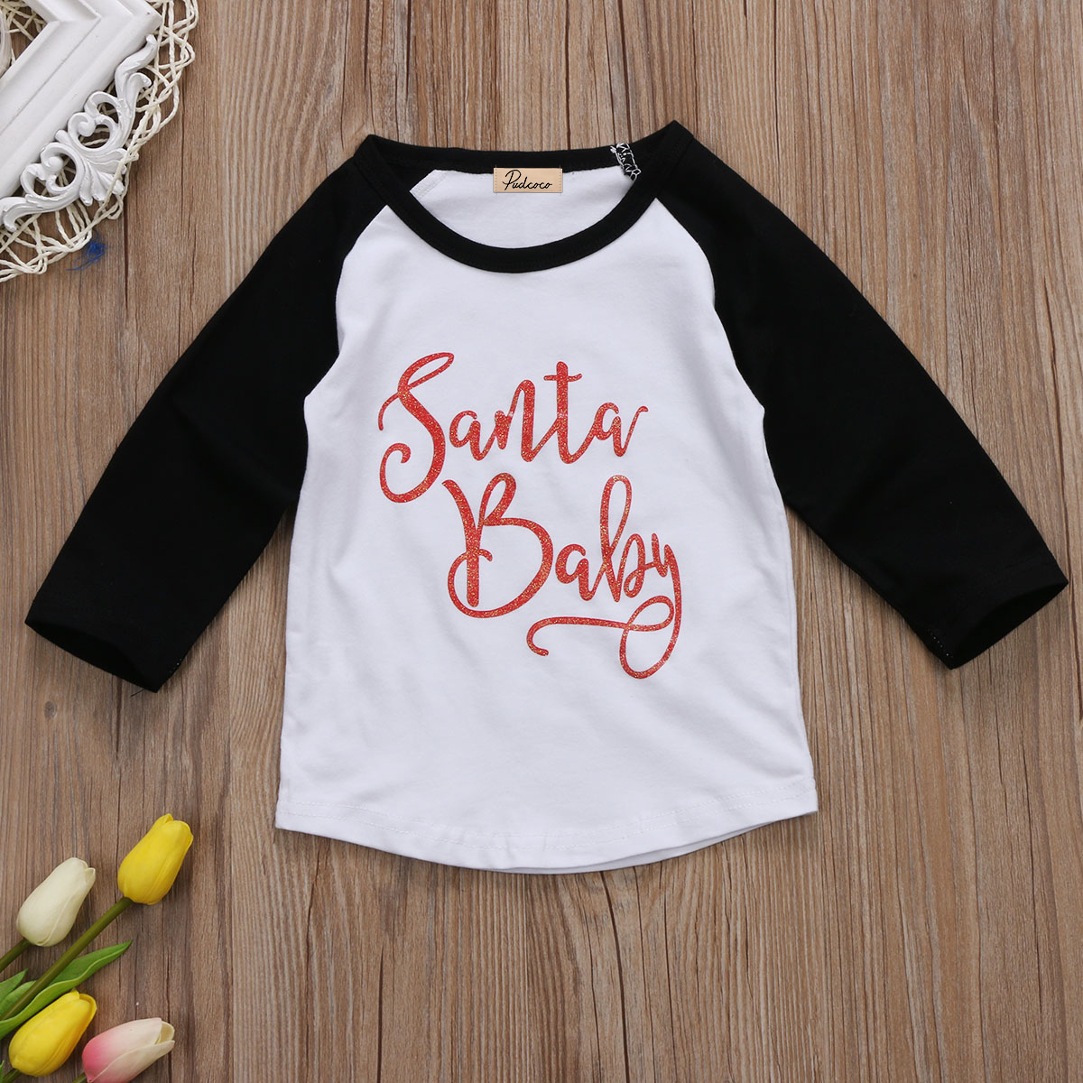 1d90e3bc436 Baby Boy Girl Kids Christmas Cotton T shirt Tops Child Long Sleeve Tee  Blouse Xmas Clothing 1 4T-in T-Shirts from Mother   Kids on Aliexpress.com